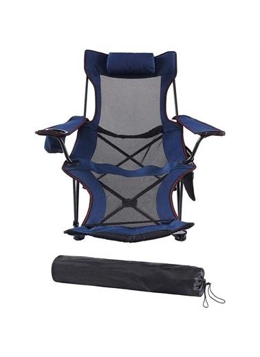 Funky Chairs Funky Chairs Lazy 3 Pozisyonlu Yatabilen Kamp Sandalyesi Mavi Mavi